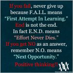 If You Fail, Never Give Up