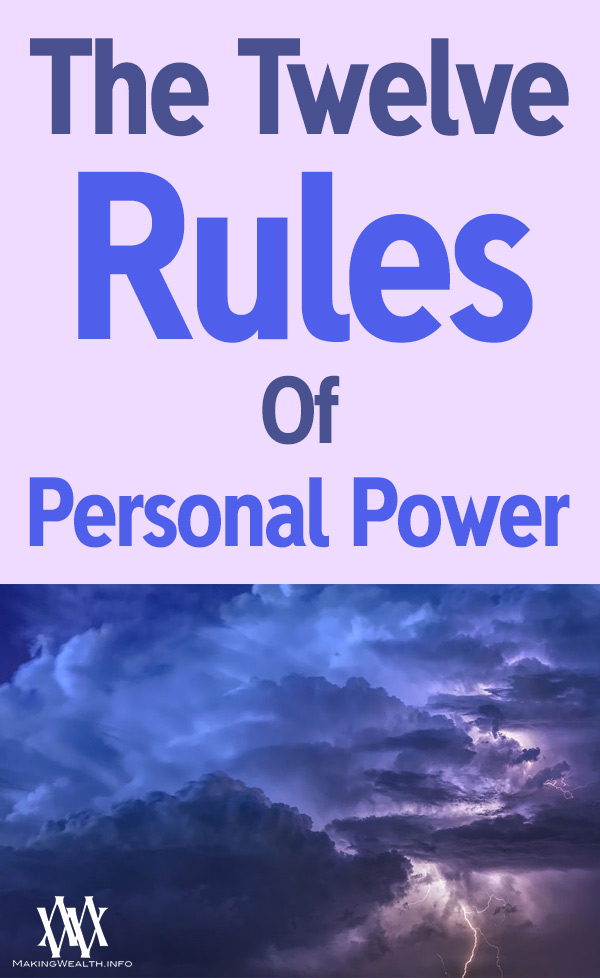 The Twelve Rules Of Personal Power
