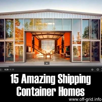 15 Amazing shipping container homes