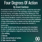 Four Degrees Of Action By Grant Cardone
