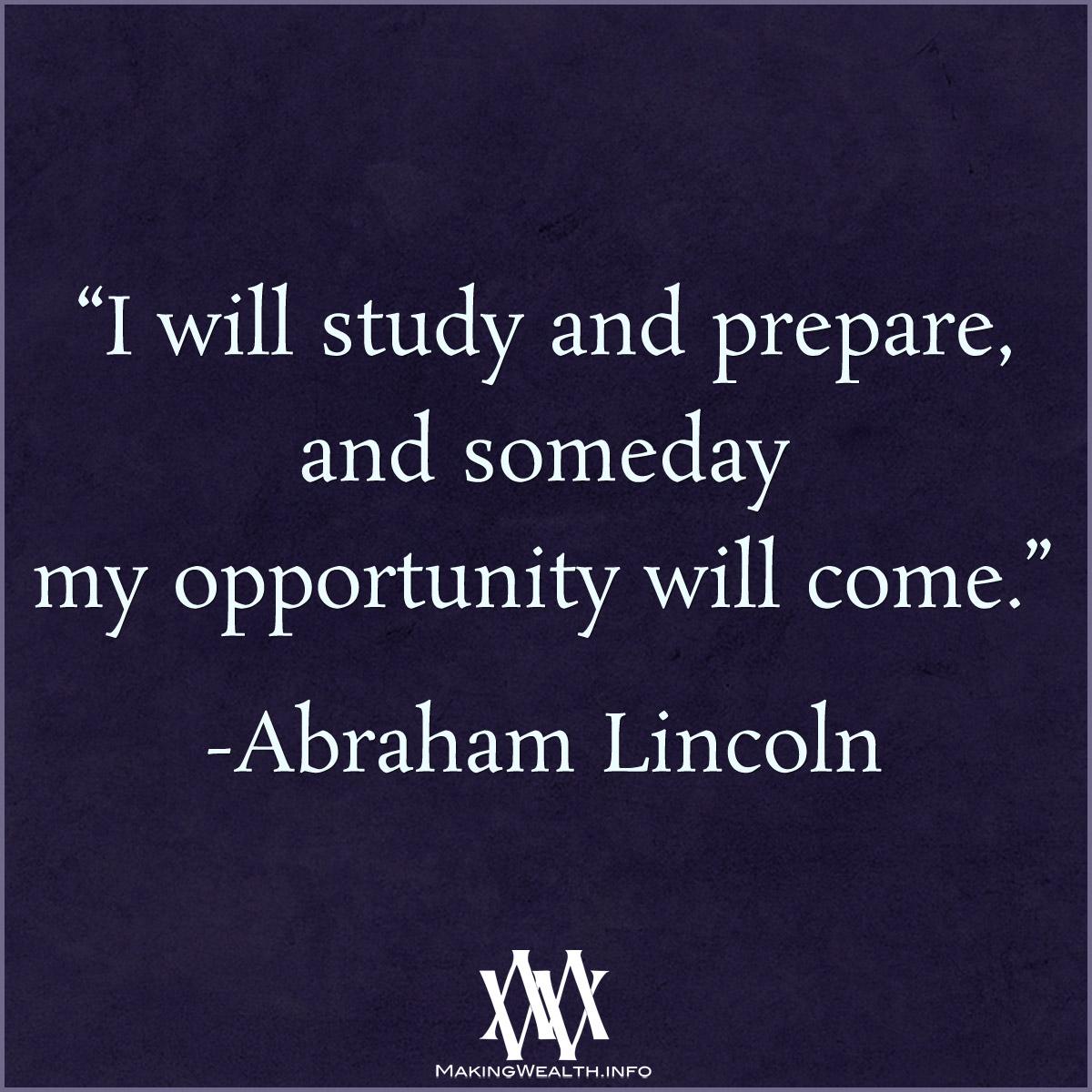 I Will Study And Prepare