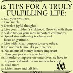 12 Tips For A Truly Fulfilling Life