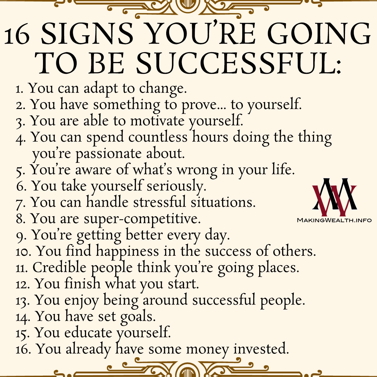 16 Signs You're Going To Be Successful