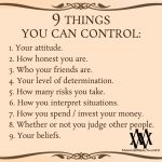 9 Things You Can Control