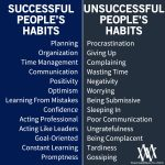 Successful People Habits VS Unsuccessful People Habits