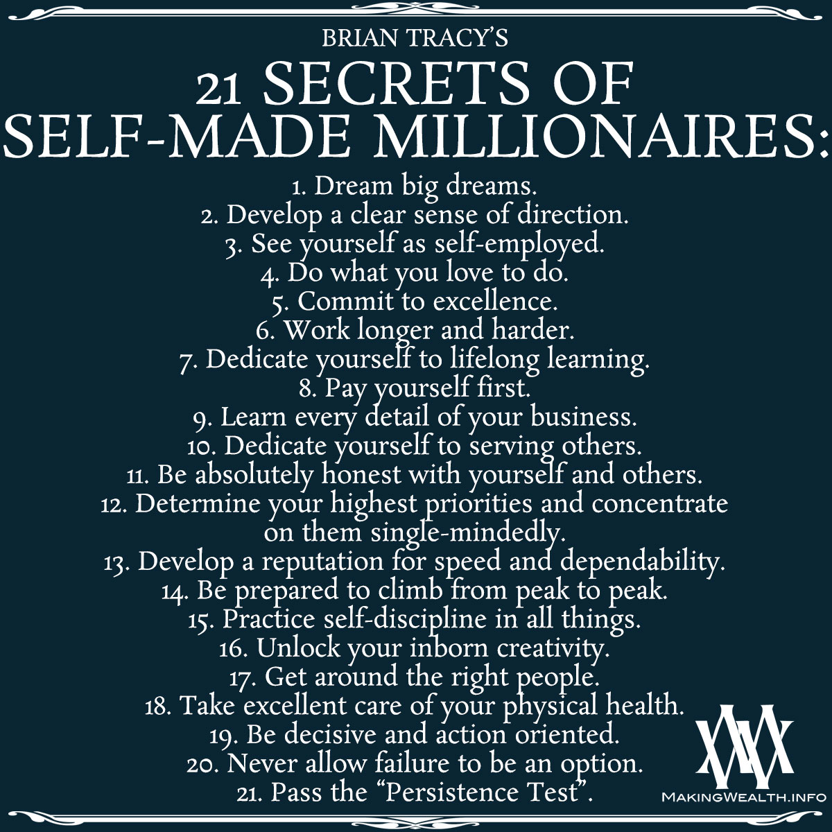 The 21 Secrets Of Self Made Millionaires