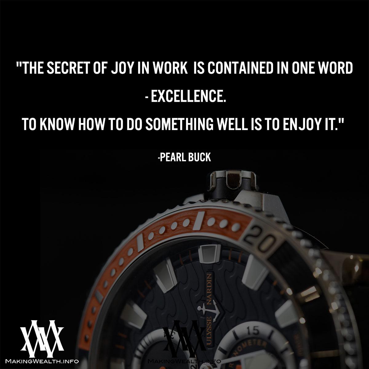 The Secret Of Joy In Work