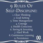 9 Rules Of Self-Discipline