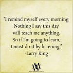 I Remind Myself Every Morning