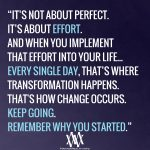 It's Not About Perfect Its About Effort